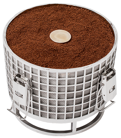 Stainless steel HardTank basket for making cold brew coffee. Hardtank.
