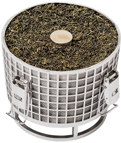 Hardtank stainless steel basket for making cold brew tea.